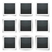 Photo Frames with Shadows — Stock Vector