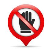 No Entry Sign — Stock Vector