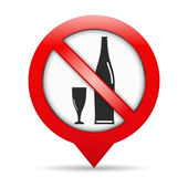 No hay rastros de alcohol — Vector de stock
