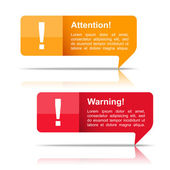 Attention and Warning Banners — Vector de stock