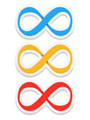 Símbolos de infinito — Vetor de Stock