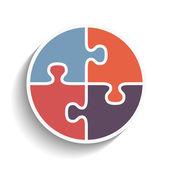 Puzzle Circle — 图库矢量图片