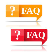 FAQ Speech Bubbles — Stok Vektör