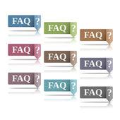 FAQ Symbols — Stock Vector