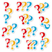 Question Marks — Stock Vector