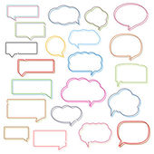 Colored Line Speech Bubbles — Vettoriale Stock