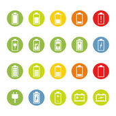 Battery and Accumulator Icons — Stock Vector