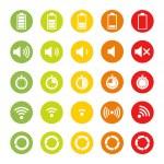 Indicators Icons — Stock Vector