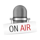 Mikrofon auf luft — Stockvektor