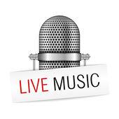 Live Music Banner — Stock Vector