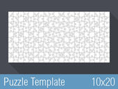 Puzzle Template 10x20 — Stock Vector
