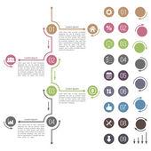 Timeline Design — Wektor stockowy