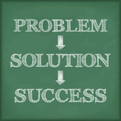 Problem Solution Success Diagram — 图库矢量图片