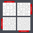 Puzzle Templates — Vector de stock