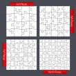 Puzzle Templates — Stock Vector
