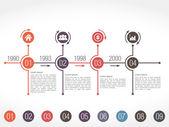 Modello di progettazione infografica Timeline — Vettoriale Stock