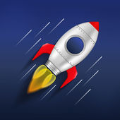 Rocket in Space — Stock Vector