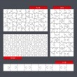 Puzzle Templates — Vector de stock  #49621867