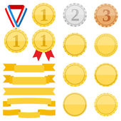 Medals and Ribbons — Stock Vector