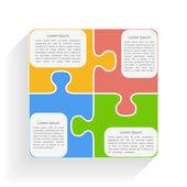 Puzzle Square — Stock Vector