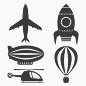 Air Transport Icons — Vettoriale Stock