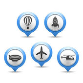 Air Transport Icons — Stock Vector