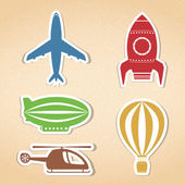 Air Transport Icons — Stockvektor