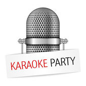 Karaoke Party Banner — Stock Vector