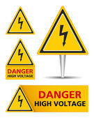 High Voltage Signs — Stockvector