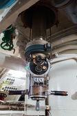 Periscope in old russian submarine — Stock Photo
