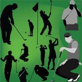 Golfer Silhouette - vector — Stock Vector