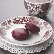 Claret macaroons — Stock Photo