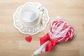 Love. Heart. Lollipop. Valentine's Day. — Stock Photo