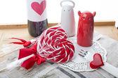 Amor. coração. pirulito. dia dos namorados. — Fotografia Stock