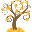 Royalty-Free Stock Vector Image: Golden coins money tree vector background