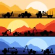 Royalty-Free Stock Vector Image: Highway truck wild nature landscape background illustration