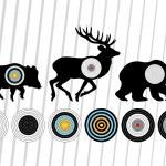 Shooting range wild boar, deer and bear hunting targets silhouet — Stock Vector #12774245