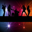 Rock band vector background with neon — Stock Vector #13765194