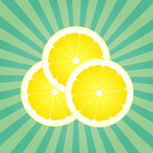 Lemon abstract background vector with burst — Stock Vector