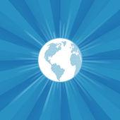 Modern earth globe burst vector background — Stock Vector