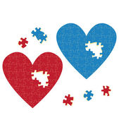 Heart puzzle vector love concept — Vector de stock
