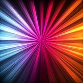 Neon abstract lines design on dark background — Stock Vector
