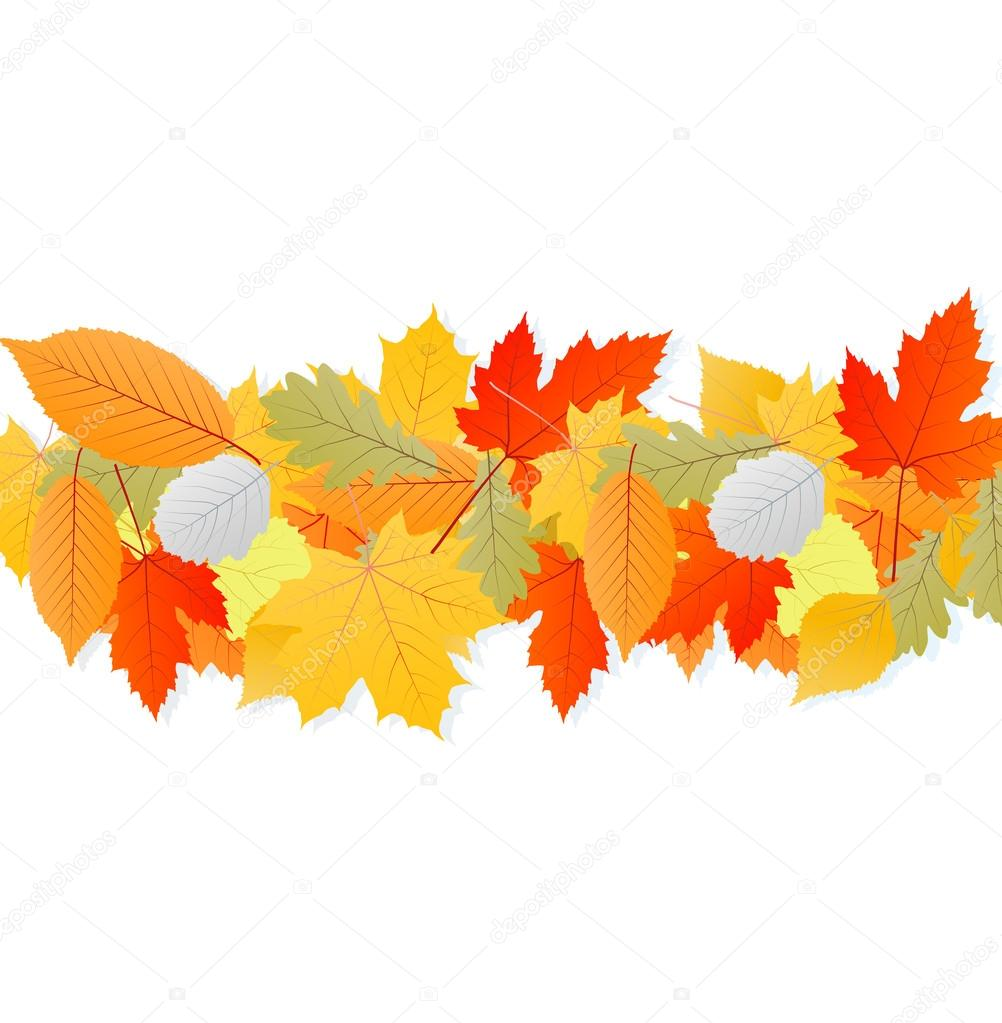Leaves autumn vector background for poster — Stock Vector #13765198