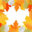Leaves autumn vector background — Stock Vector