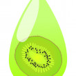 Kiwi juice vector background drop - Stock Vector