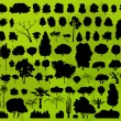 Forest trees silhouettes landscape background vector — Stock Vector #14785461