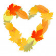 Royalty-Free Stock Vektorov obrzek: Leaf heart vector autumn background