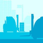 Wózek widłowy z obciążenia tło wektor — Wektor stockowy