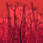 Autumn countryside landscape background illustration — Stock Vector