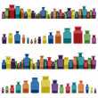 Royalty-Free Stock Vector: Vintage old glass jars, bottles and medicine chemistry potionsl